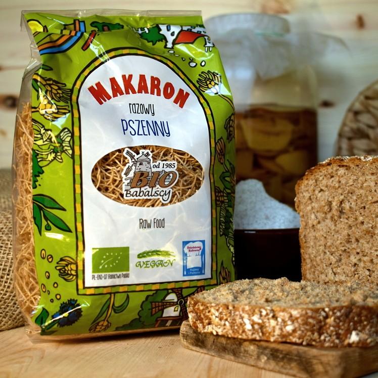 Makaron razowy pszenny cienka nitka 400 g