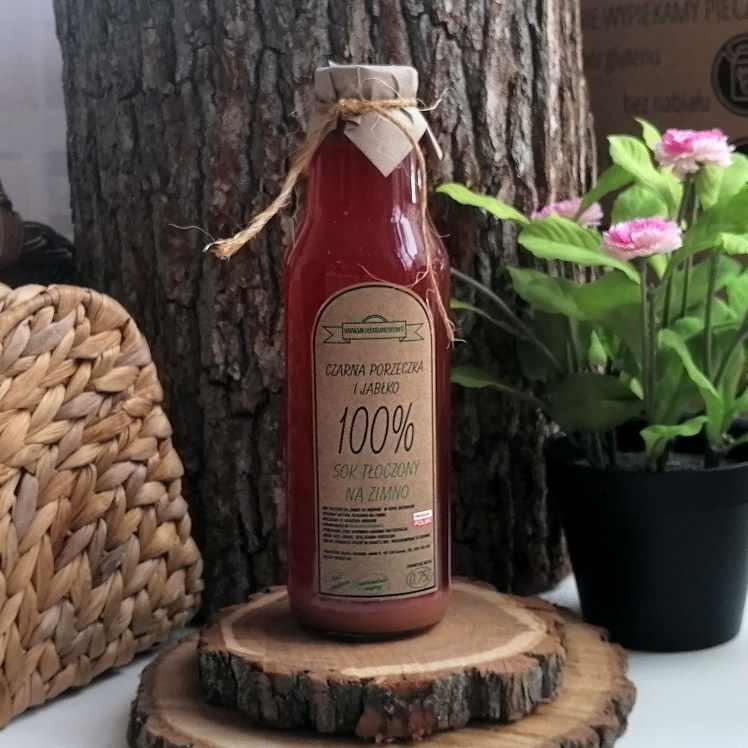 Sok czerwona porzeczka i jabłko 750 ml
