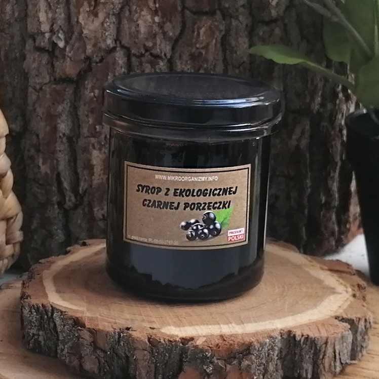 Syrop z ekologicznej czarnej porzeczki  350 ml