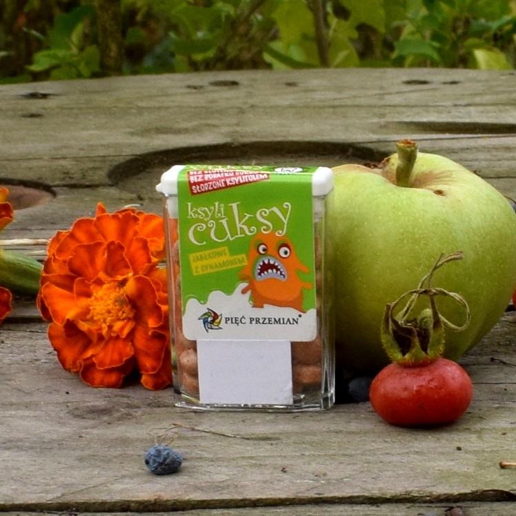Cuksy jabłkowe z cynamonem (małe drażetki)