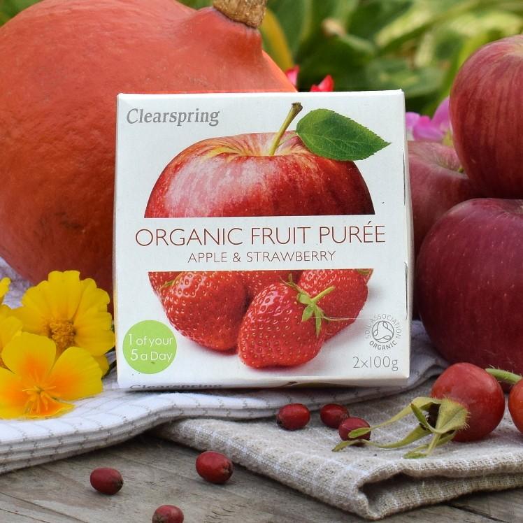 Deser jabłko-truskawka BIO 200 g